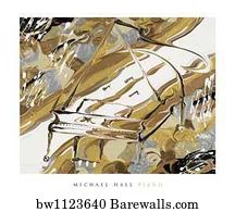 Art Print Of Abstract Piano By Paul Brent Barewalls