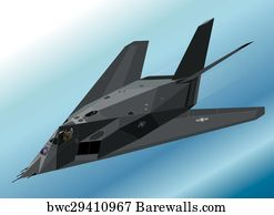 F 117 Stealth Fighter Drawing 16 Airplane f117 night...