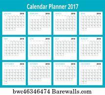 art print of 2018 calendar print template week starts sunday