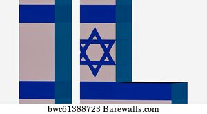 Country Code Art Print Poster Short Letters Israel