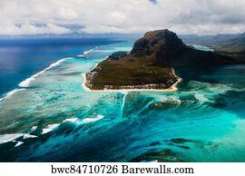 Poster Mauritius Ile Maurice Africa Le Morne Brabant Fine Art Print Photo