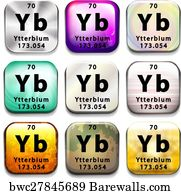 61 periodic table of the elements ytterbium posters and art prints periodic table of the elements ytterbium art print poster a periodic table button showing the urtaz Choice Image