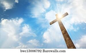Religion Illustration Crosses Heart Flower Sun Stock Vector ...