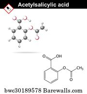 salicylic acid art print poster acetylsalicylic acid formula