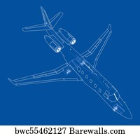 13527 blueprint vector posters and art prints barewalls blueprint vector art print poster airplane blueprint vector malvernweather Choice Image