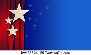 art print of american stars and stripes background barewalls
