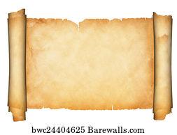 art print of antique parchment scroll barewalls posters prints