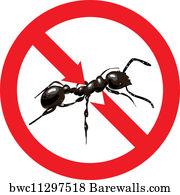 No Ants Sign No Ants Symbol Art Print Barewalls Posters Prints Bwc11109859