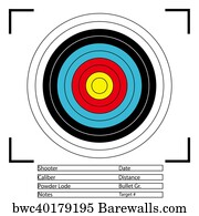 photograph regarding Printable Archery Targets identified as 50 Printable focus Posters and Artwork Prints Barewalls