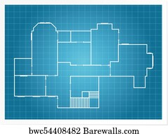 26953 blueprint house posters and art prints barewalls blueprint house art print poster architectural background blueprint plan of a layout of building malvernweather Images