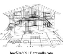 27401 blueprint house posters and art prints barewalls blueprint house art print poster architecture blueprint of a house vector malvernweather Gallery