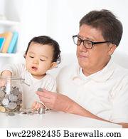 Family Saving Money