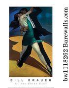 RETRO ART PRINT Harvest Moon by Bill Brauer
