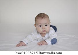 Baby lying on belly, Art Print | Barewalls Posters & Prints