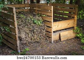 Backyard Compost Bin art print of backyard compost bins | barewalls posters & prints