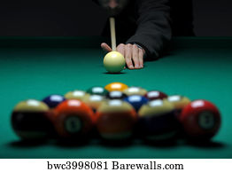 Pool Table Art Print Poster   Balls On A Pool (billard) Table During Play