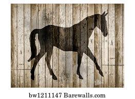 Barnwood Art Print Poster   Barnwood Horse