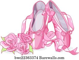 459 ballet shoes clipart posters and art prints barewalls rh barewalls com free clipart ballet shoes ballet shoes clipart pictures