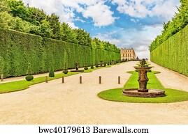 jardin de versailles art print poster beautiful garden in a famous palace of versailles - Jardin Chateau De Versailles