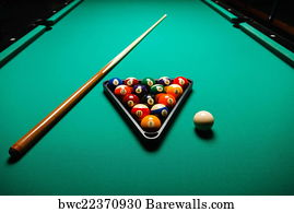 Pool Table Art Print Poster   Billiard Balls In A Pool Table.