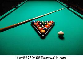 Bon Pool Table Art Print Poster   Billiard Balls In A Pool Table.
