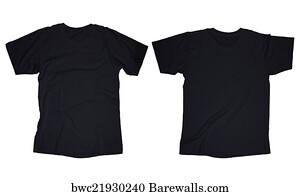 art print of black t shirt template barewalls posters prints