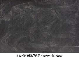 art print of blank chalkboard with eraser smudges barewalls