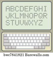 3,980 Pixel alphabet Posters and Art Prints | Barewalls