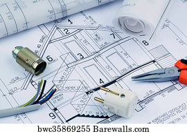 676 electrical expert posters and art prints barewalls electrical expert art print poster blueprint for a house electrical malvernweather Images