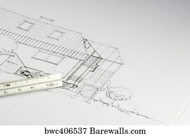 6537 cad posters and art prints barewalls cad art print poster blueprint of a building 02 malvernweather Image collections