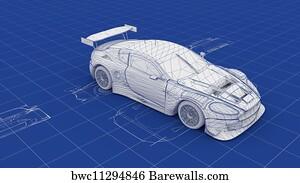 3,895 Car blueprint Posters and Art Prints   Barewalls