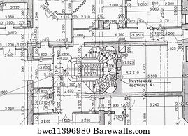 24341 blueprint house posters and art prints barewalls blueprint house art print poster blueprint malvernweather Gallery