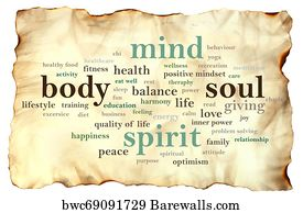 Body Mind Soul Spirit Motivational Words Quotes Concept Art Print Barewalls Posters Prints Bwc69455619