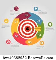 Canvas print of stay on target words dart board focus goal mission canvas print business target infographic dart board arrow concept of goals achievement world map gumiabroncs Gallery