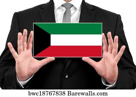 1040 state of kuwait posters and art prints barewalls state of kuwait art print poster businessman holding a business card with kuwait flag reheart Images