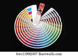 color swatch book art print poster color guide to match colors for printing - Color Swatch Book