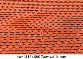 Red Roof Tiles Art Print Poster   New Red Roof Tiles