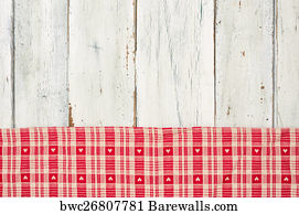 Red And White Gingham Checkered Tablecloth Background Art Print Poster   Red  Checkered Tablecloth With Hearts