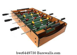Game Table Soccer Art Print Poster   Table Soccer Game