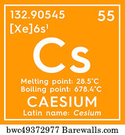 54 caesium chemical element posters and art prints barewalls caesium chemical element art print poster caesium cesium alkali metals chemical element urtaz Gallery
