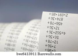897 Calculator Paper Tape Posters And Art Prints Barewalls