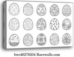844 Easter Bunny Coloring Book Canvas Prints And Canvas Art Barewalls