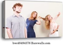 women fighting over boyfriend