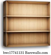 Canvas Print Of Empty Bookshelf
