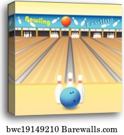 bowling alley - canvas print