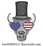 Buffalo, bison, ox, bull Hand drawn image for tattoo, emblem, badge