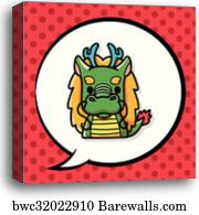 Chinese zodiac, dragon, Canvas Print | Barewalls Posters