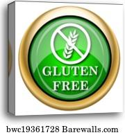 Gluten free icon, Canvas Print | Barewalls Posters & Prints