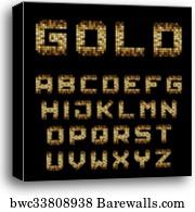 Vector RGB pixel font alphabet, Canvas Print | Barewalls