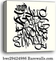 Colorful graffiti font alphabet letters  Hip hop grafitti